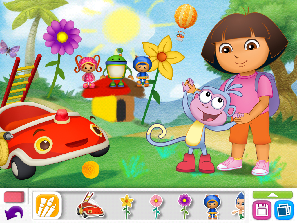 Nick Jr Draw And Play Is A Coloring Book App